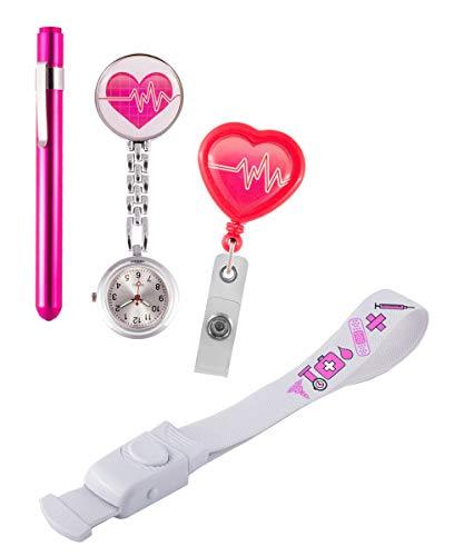 Set Persönliche Ausrüstung für krankenschwester + Gratis Gravur (Pink)