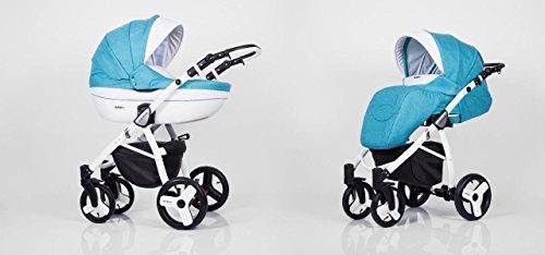 Hogartrend - Carrozzina / Passeggino TRIO per bambini, mod. Milano, 3 pezzi, con struttura in alluminio colore 6