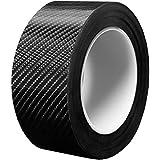 Kontoco 車 ステッカーオートカーラッピングフィルム ステップ バンパー 車傷保護 超粘着 粘着剤付き テープ式 カーボンシート ドアエッジプロテクター (3cm*10M)