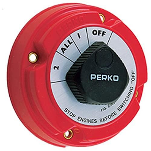 Perko 8501DP Medium Duty Battery Selector Switch Red, Small