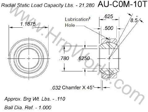 Aurora Bearing Company Max 68% OFF COM-10T; .625