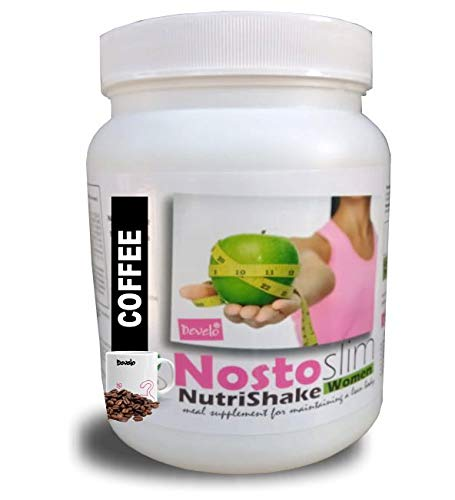 Develo Slimming Protein Shake, Nutrition Slim Health Drink, Sugar Free Supplement for Women NostoSlim Powder 1020 gm Coffee