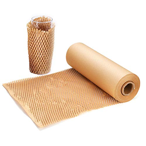 """Honeycomb Cushioning Packing Paper 1 Rolls 12"""" X 98' Biodegradable & Fully Recyclable Packing Paper Brown Wrapping Paper Roll for Packing & Moving Void Fill Paper Bubble Paper Wrap Honeycomb Wrap"""
