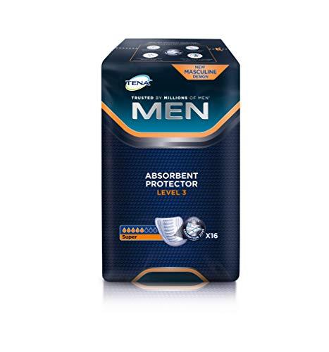 NRS Healthcare TENA for men absorbente Protectores–Nivel 3, 1 paquete con 16 almohadillas