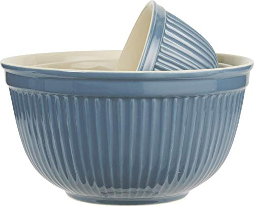 Ib Laursen - Schalensatz 3 teilig Mynte - Nordic -blau - Keramik