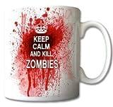 uglymug - Tazza in ceramica con scritta Keep Calm and Kill Zombies