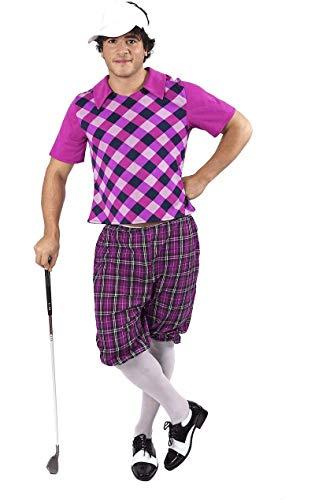 ORION COSTUMES Herren Lila Golfer Maskenkostüm