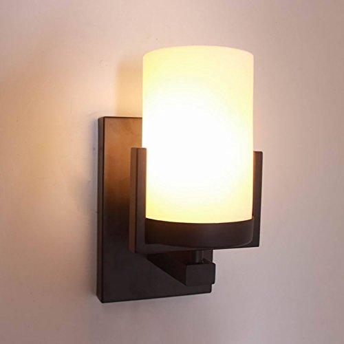 LXSEHN Lampe De Mur Noire De Peinture De Fer Forgé Simple Rétro Américain, Chambre D'étude Créative Salon Allée Lampes Illumination lampes lanternes
