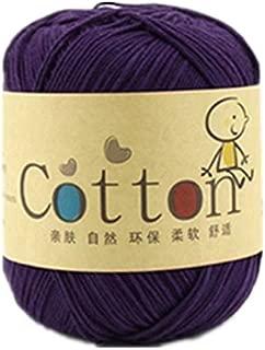 Celine lin One Skein Super Soft Natural Cotton Baby Knitting Yarn,Violet