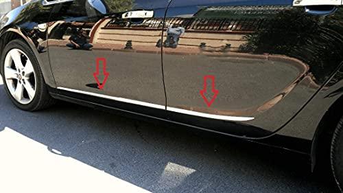 Para Astra J 2010+ HB cromo puerta lateral Streamer Moldeo protector de acero inoxidable 4 piezas
