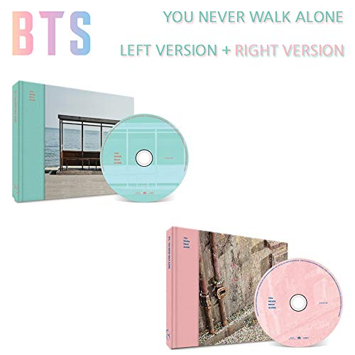 BANGTAN BOYS Wings: You Never Walk Alone (Left+Right Version Set) BTS Album 2 CDs+2 Photobooks+2 Photocards+Gift