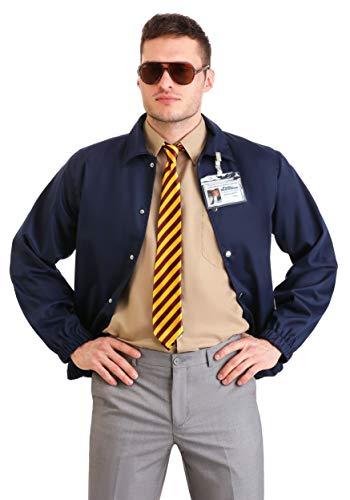 Disfraz de Andy Dwyer para adultos de Parques y Recreacin Burt Macklin - azul - X-Small