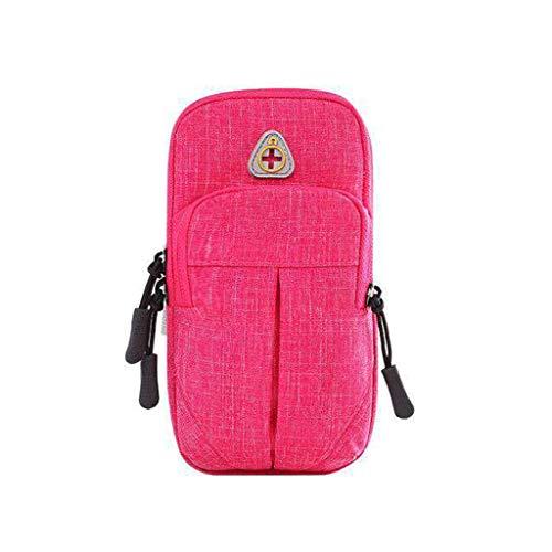 Multifunktionale Tasche - Fitness-Handgelenkstasche, Handy-Armpackung, Universal-Armpackung, Hohe Kapazität, Handtasche, Sport, Laufen, Joggen, Gehen, Wandern, Männer Und Frauen (Color : Pink)