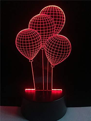 Romantische wereldbol 3D-lamp bedlampje, nachtlampje voor kinderkamer, led-lamp voor de woonkamer perfect geschenk voor kinderen