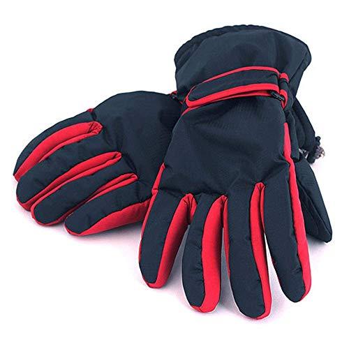 Guantes para los hombres y las mujeres Abajo el pato blanco grueso en cinco dedos, incluso un aumento de los guantes de esquí al aire libre de la motocicleta al aire libre de la moto de invierno aline