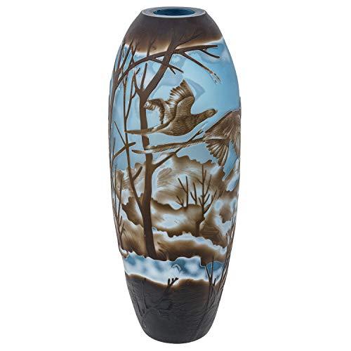 aubaho Vase Replika nach Galle Gallé Glasvase Glas Antik-Jugendstil-Stil Kopie c2
