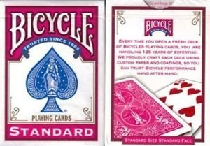 Bicycle Fuchsia Playing Cards with New Box Design by United States Playing Card Company