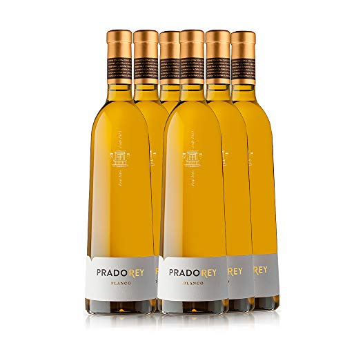 PRADOREY Blanco - Vino blanco - Verdejo - Multivarietal - Vino de la tierra de Catilla y León - Vendimia Nocturna - 6 Botellas - 0,75 L