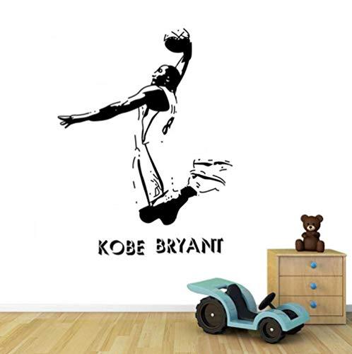 Kobe Classic Slam Dunk Action 57x80cm Muurtattoo Slaapkamer Woonkamer Keuken Woondecoratie Behang