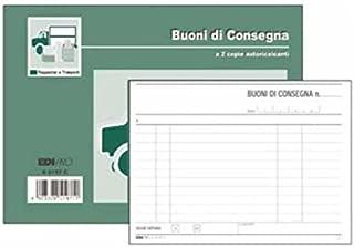 Blocco buoni consegna E5199CT Edipro 10x17cm 33fg 3 copie autoricopianti confezione da 10
