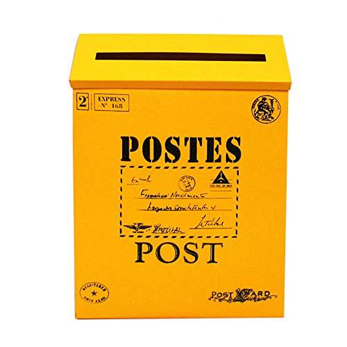 little finger Briefkasten, Retro, Metall, Wandmontage, Briefkasten, Zeitungsbox, Postkasten, Gartendekoration, Eisen, 3#, 1#