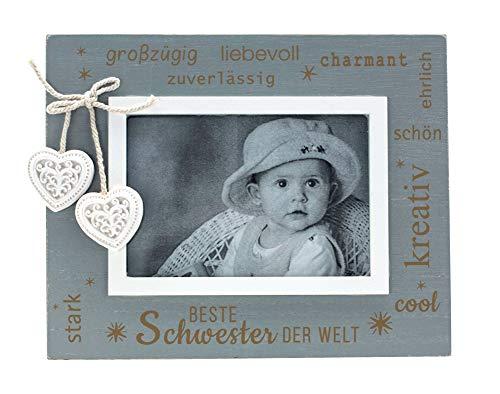 Marco de fotos para hermanas · Marco de fotos 9 x 13 gris �