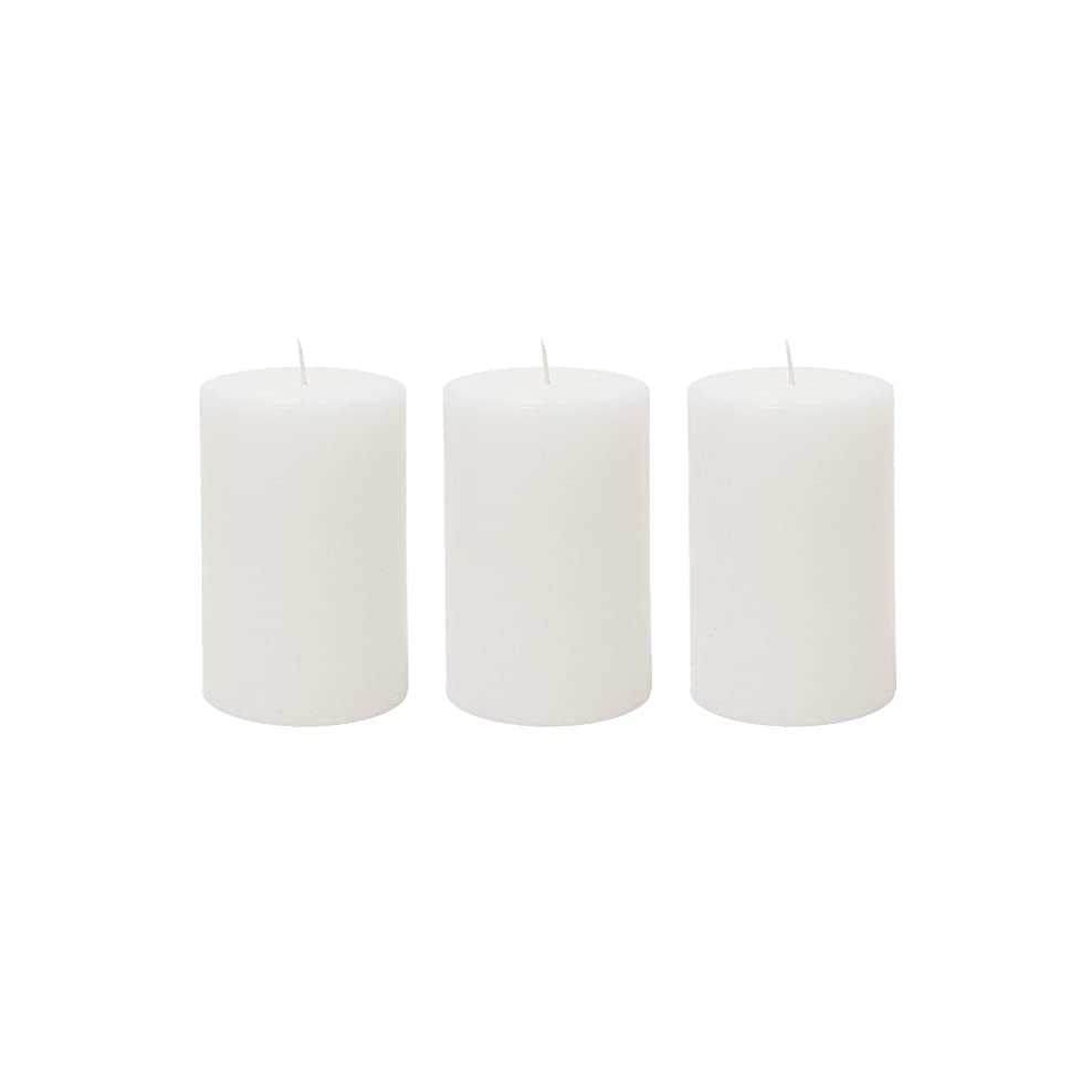 太鼓腹の間にインデックス(3, 5.1cm x 7.6cm Round) - Mega Candles 3 pcs Unscented White Round Pillar Candle Hand Poured Premium Wax Candles 5.1cm x 7.6cm For Home Decor, Wedding Receptions, Baby Showers, Birthdays, Celebrations, Party Favours & More
