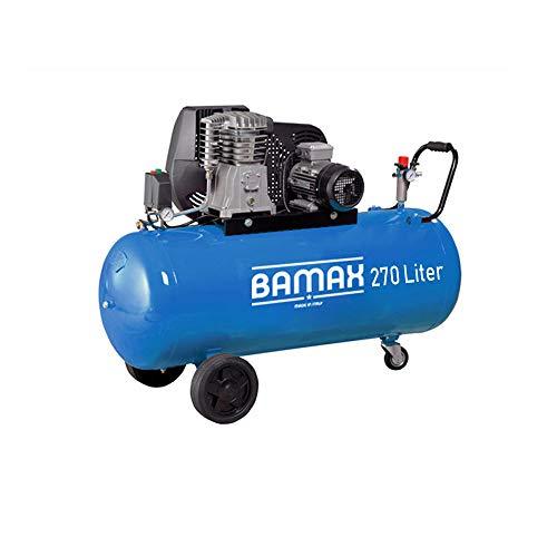 Kompressor 49/270CT Bamax Luftkompressor Ansaugleistung: 541 l/min Abgabeleistung: 400 l/min Max. Druck 10 Bar Kessel 270 Liter