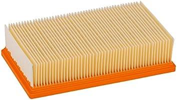 Bosch Professional 2 607 432 033 Bosch 033-Filtro de Pliegues Plano de celulosa-für Gas 35-55 (Pack de 1), Beige, Naranja