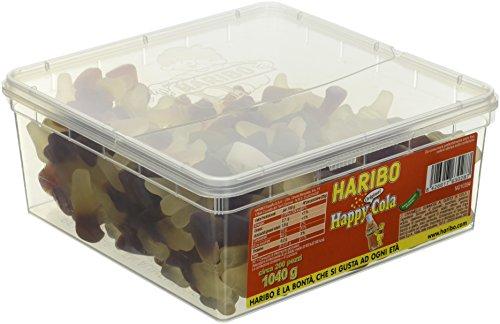 Haribo Caramelle Barattolo Happy Cola - 200 pezzi circa [1040g]