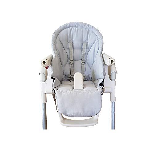 Aveanit Peg Perego Prima Pappa Zero 3 - Funda para trona de bebé, 100% algodón, color gris