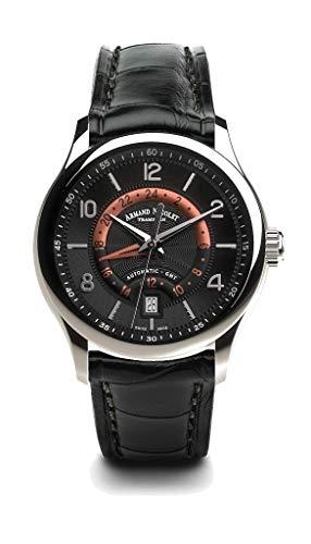 Armand Nicolet M02-4 Orologio automatico GMT in acciaio inox nero...