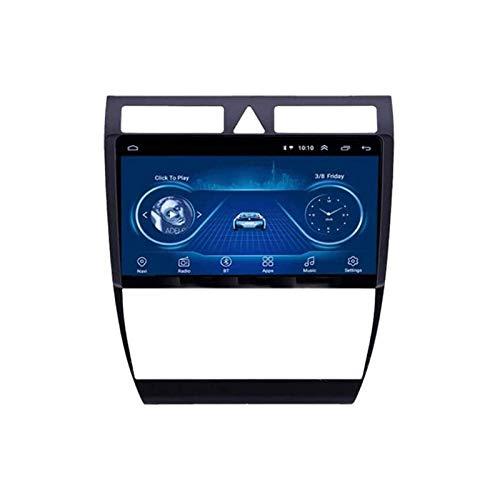 Para Audi A6 RS6 S6 1997-2004 2.5D pantalla táctil coche navegación GPS Radio estéreo reproductor multimedia soporte Mirrorlink WiFi 4G mapa Bluetooth llamadas manos libres, 8 Core 4G+WiFi: 4+64GB