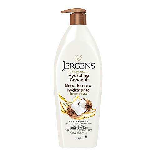 Jergens Hydrating Coconut Moisturizer & Body Lotion for Dry Skin (620 mL)