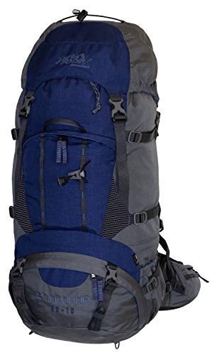 Tashev Outdoors Kentaurus Trekkingrucksack Wanderrucksack Damen Herren Backpacker Rucksack groß 60l Plus 10l (Hergestellt in EU) (Dunkelblau)