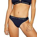 Tommy Hilfiger Thong T Tanga con Cinturilla Elástica y Logo, Azul (Navy Blazer), M para Mujer