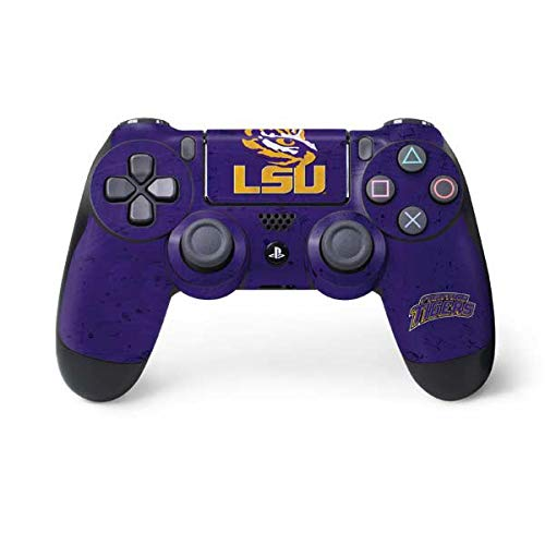Skinit Decal Gaming Skin for PS4 Controller - Officially Licensed College LSU Tigers Design