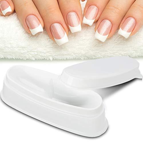 Nail Dipping Powder Tray Draagbare witte Nail Dipping Powder Tray Manicurevorm Nagelhouder Wit DIY Nail Art Tool Eenvoudig te manicureen, dubbelzijdig Dip Jar