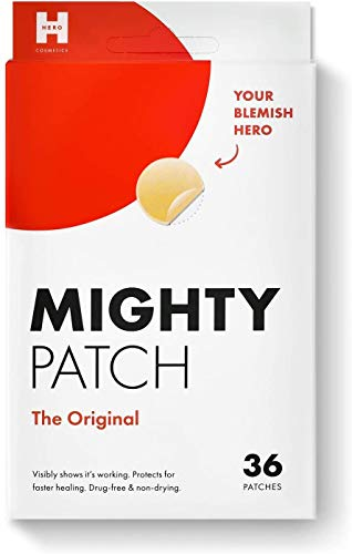 Mighty Patch Original – Hydrocolloid Acne Pimple Patch Spot Treatment (36 count) for Face, Vegan, Cruelty-Free…