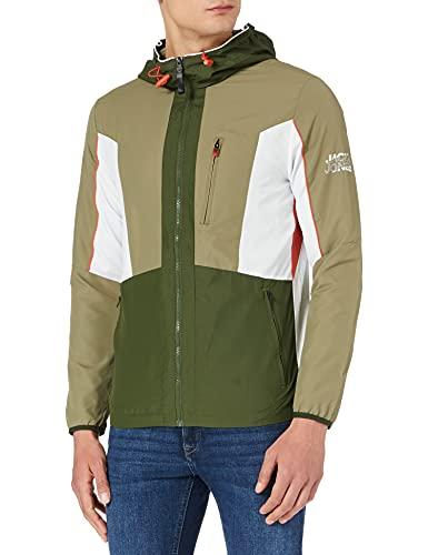 Jack & Jones Jcocarson Light Jacket Hood STS Chaqueta de transición, Deep Lichen Green/Print:jackjones, M para Hombre