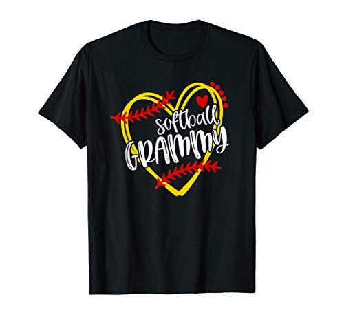 Softball GRAMMY, Grandma, Softball, Softball Heart T-Shirt