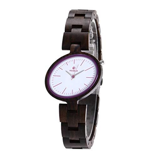 Orologio da uomo Reloj de Madera - Hecho a Mano Industrial, Reloj de Cuarzo for Mujer de Negocios, Salud, Romance, compañero (Color : D)