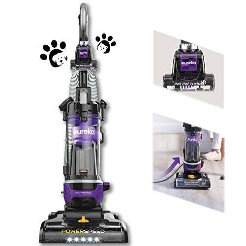 Eureka PowerSpeed Bagless Upright Vacuum Cleaner, w/Pet Tool and CordRewind, Blue, Purple