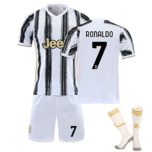 ジュニアサッカーウェア 子供トレーニング 上下セット サッカーソックス ユベントスホームゴールドジャージーベルトソックス正しいバージョン番号 (Color : B, Size : 24)