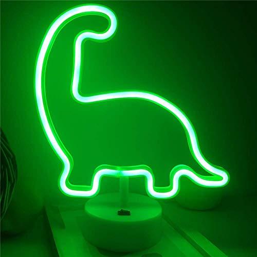 Neonlicht-Zeichen Dinosaurier met en scène une lampe et une couche Tier Neon Nachtlicht avec une baguette magique Dekor Lichter pour Jungen Schlafzimmer comme Geburtstagsfeier
