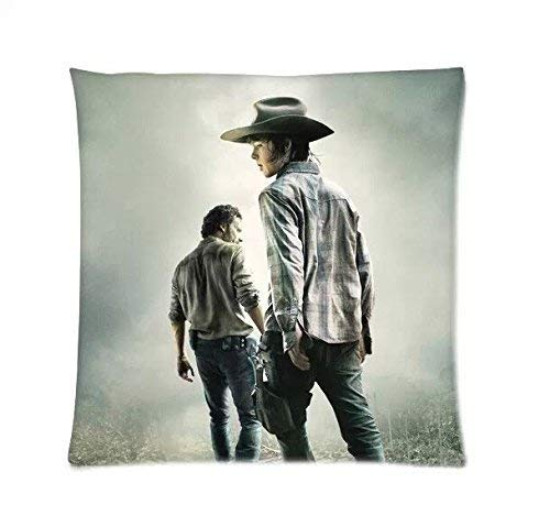 Custom The Walking Dead Carl Grimes Chandler Riggs Home Decorative Soft Throw Pillowcase Cushion Custom Pillow Case Cover Protecter with Zipper Standard Printed Fundas para Almohada (60cmx60cm)