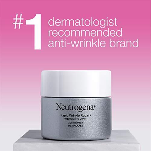 41yC2n0hnEL - Neutrogena Rapid Wrinkle Repair Retinol Regenerating Anti-Aging Face Cream & Hyaluronic Acid; Anti-Wrinkle Retinol Moisturizer & Neck Cream, with Hyaluronic Acid & Retinol, 1.7 oz