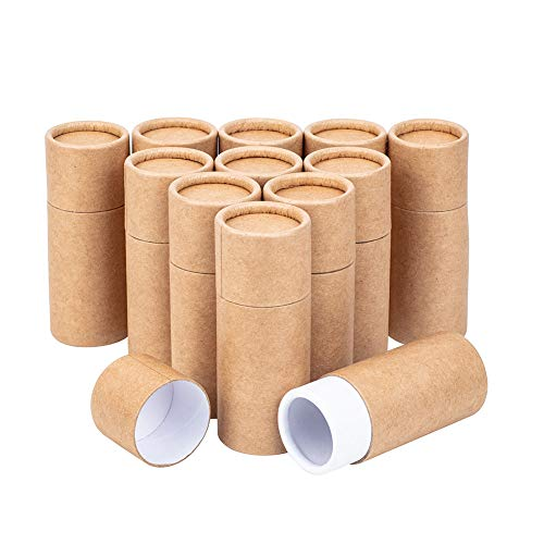 BENECREAT 12 STÜCKE 20 ml BurlyWood Kraft Pappröhrchen Runde Kraftpapierbehälter für Bleistifte Tee Caddy Kaffee Kosmetik Kunsthandwerk Geschenkverpackung