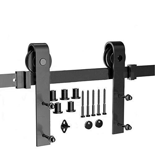 Système de Porte Coulissante, Kit de Rail pour Porte Coulissante, Rail + Roulette, 183 cm (Classique)
