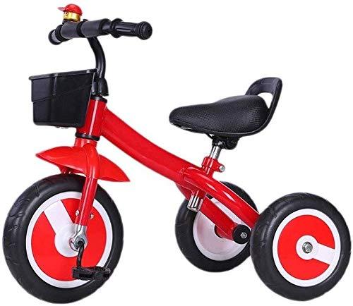 WLD kinderfiets kinderfiets Walker Baby Bike driewieler kinderfiets S 1-3-2-6 jaar kinderzitje zacht draagbaar beste geschenk voor kinderen Rood